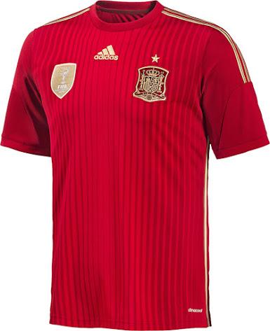 Spanien WM 2014 Heimtrikot 1