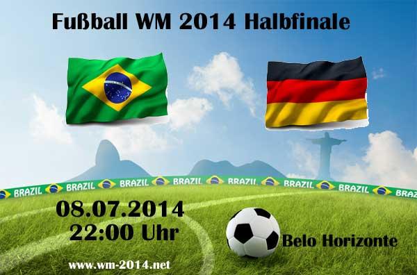 Die wichtigsten Wetten heute Abend zum Halbfinalspiel Brasilien - Deutschland