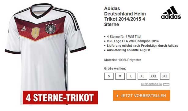 DFB Trikot 4 Sterne
