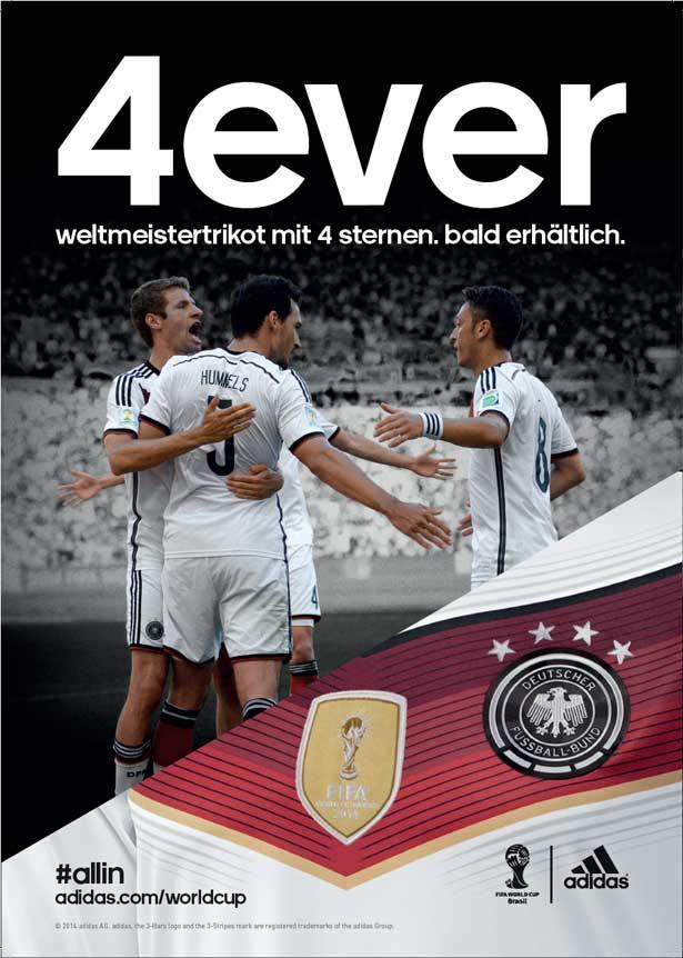 adidas DFB Trikot mit 4 Sternen