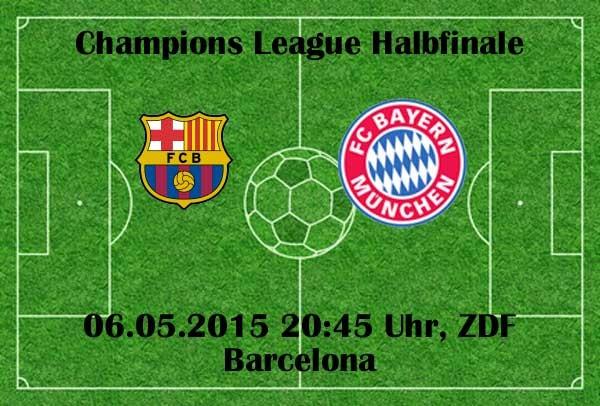ZDF Live: FC Barcelona gegen den FC Bayern München - CL Halbfinale