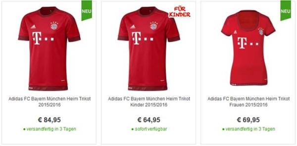 Bayern München Trikot-2015-1016