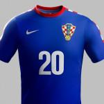 Kroatien 2014 WM Auswärtstrikot