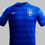 auswaertstrikot brasilien 2014