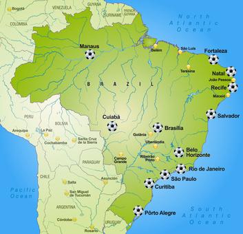 WM 2014 Austragungsorte