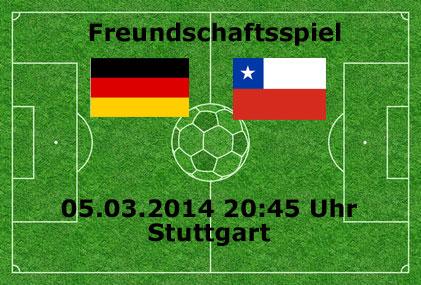 Deutschland - Chile Länderspiel heute - Facts & Infos