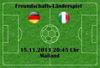 Aufstellung Deutschland Italien